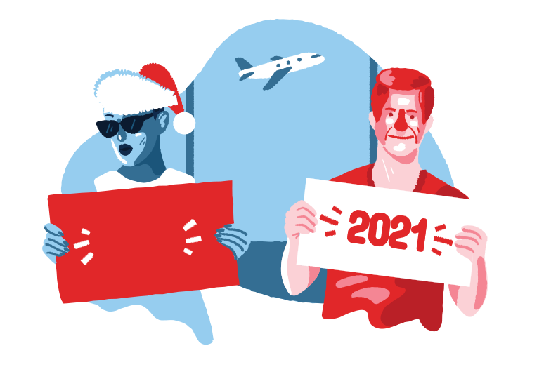 Welcome to the new year Clipart illustration in PNG, SVG