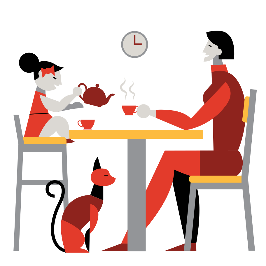 Tee-party Clipart-Grafik als PNG, SVG