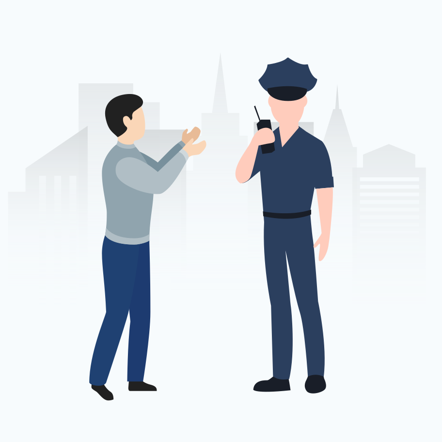 Accident with policeman Clipart illustration in PNG, SVG
