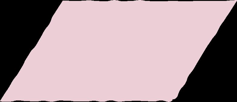 parallelogram pink Clipart illustration in PNG, SVG