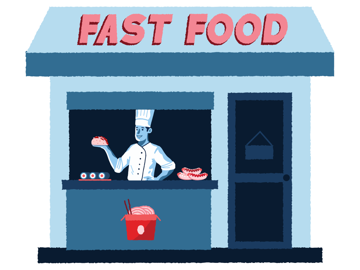 Fast food store Clipart illustration in PNG, SVG