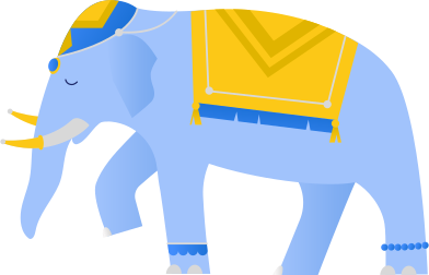 style indian blue elephant images in PNG and SVG | Icons8 Illustrations