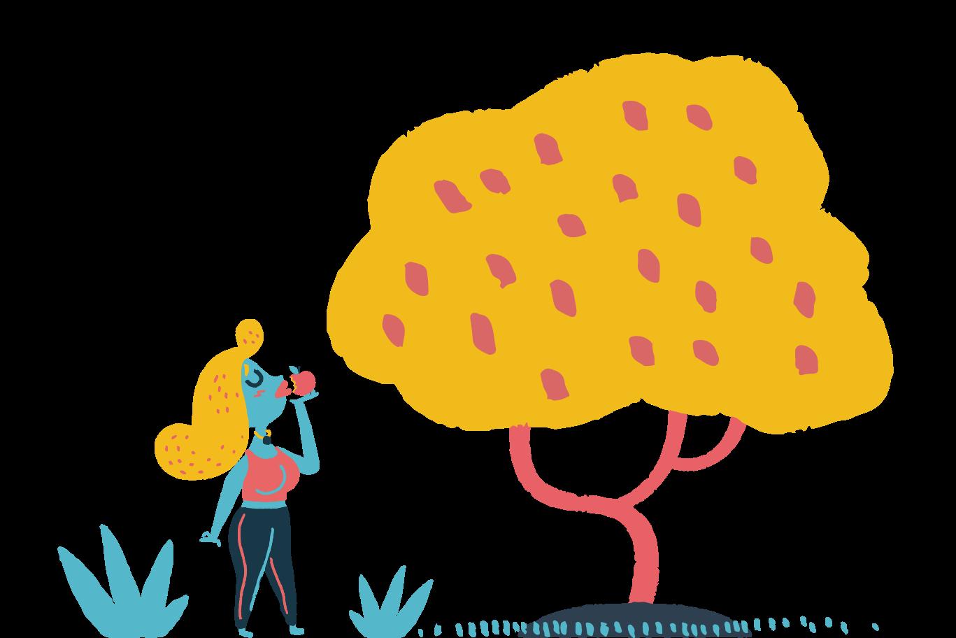Biting the fruit Clipart illustration in PNG, SVG